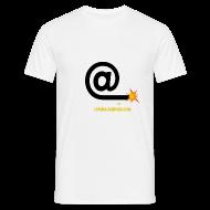 Tee shirts ~ Tee shirt Homme ~ Arobase etincelle blanc