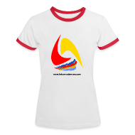 Tee shirts ~ Tee shirt contraste Femme ~ Futura-Sciences- femme - blanc-rouge