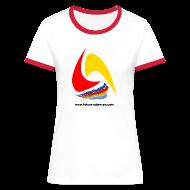 Tee shirts ~ Tee shirt contraste Femme ~ Futura-Sciences- femme - blanc-rouge