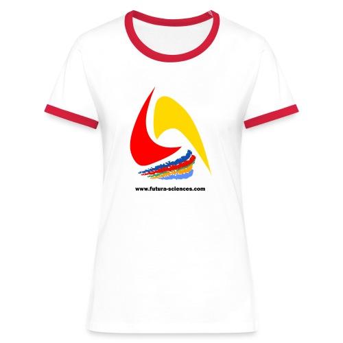 Futura-Sciences- femme - blanc-rouge - T-shirt contrasté Femme
