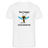 Tee shirts ~ Tee shirt Homme ~ Abeille Bee happy homme blanc