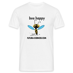 Abeille Bee happy homme blanc - T-shirt Homme