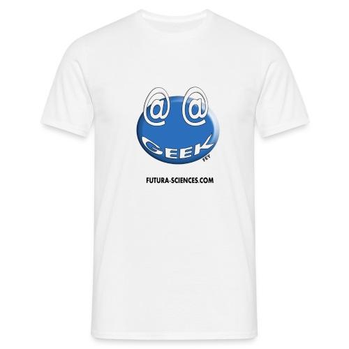 Geek arobase blanc - T-shirt Homme