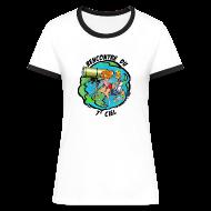 Tee shirts ~ Tee shirt contraste Femme ~ 7ème ciel - femme - blanc-marine
