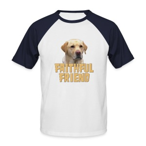 Yellow lab faithful friend mens short sleeved baseball shirt - Men's Baseball T-Shirt