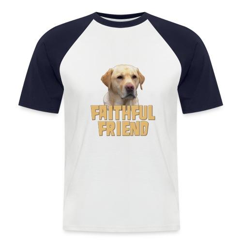Yellow lab faithful friend mens short sleeved baseball shirt - Men's Baseball T-Shirt