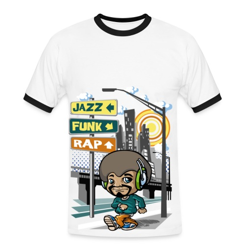 tshirt funky - T-shirt contrasté Homme