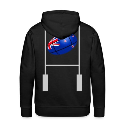 sweatshirt new zealand rugby design - Sweat-shirt à capuche Premium pour hommes