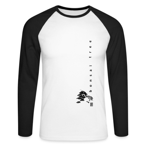 T-Shirt Homme Manche longue Kakemono Black - T-shirt baseball manches longues Homme