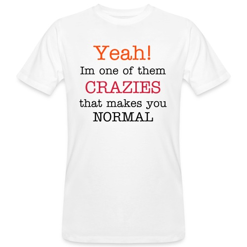 Crazies(male), climate neutral - Men's Organic T-Shirt