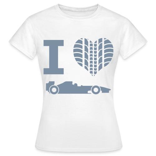 'I Heart Formula 1' Basic Tee (Female) - Women's T-Shirt
