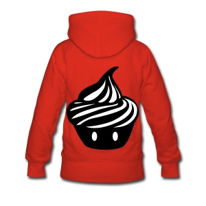 Pull à capuche Cupcake Géant au dos - Femme - Sweat-shirt à capuche Premium pour femmes