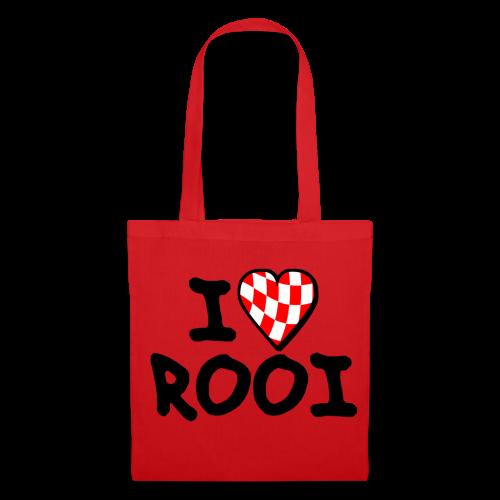Tas met I Love Rooi - Tas van stof