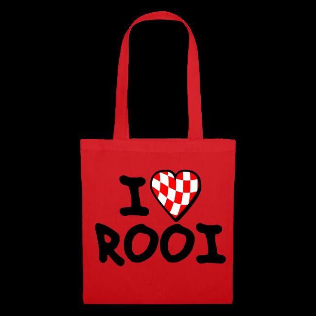 Tas met I Love Rooi