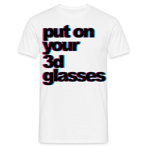 Men's Classic T-Shirt 3D Glasses Design - Men's T-Shirt