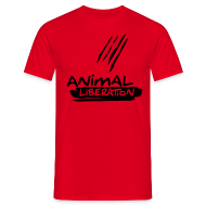 T-Shirts ~ Männer T-Shirt ~ Animal Liberation - Black Flock on X