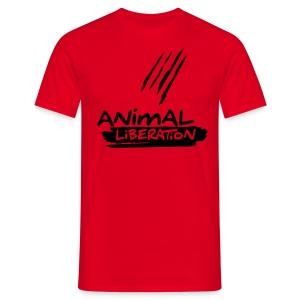 Animal Liberation - Black Flock on X - Männer T-Shirt