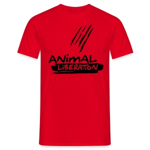 Animal Liberation - Black Flock on X - Männer T-Shirt