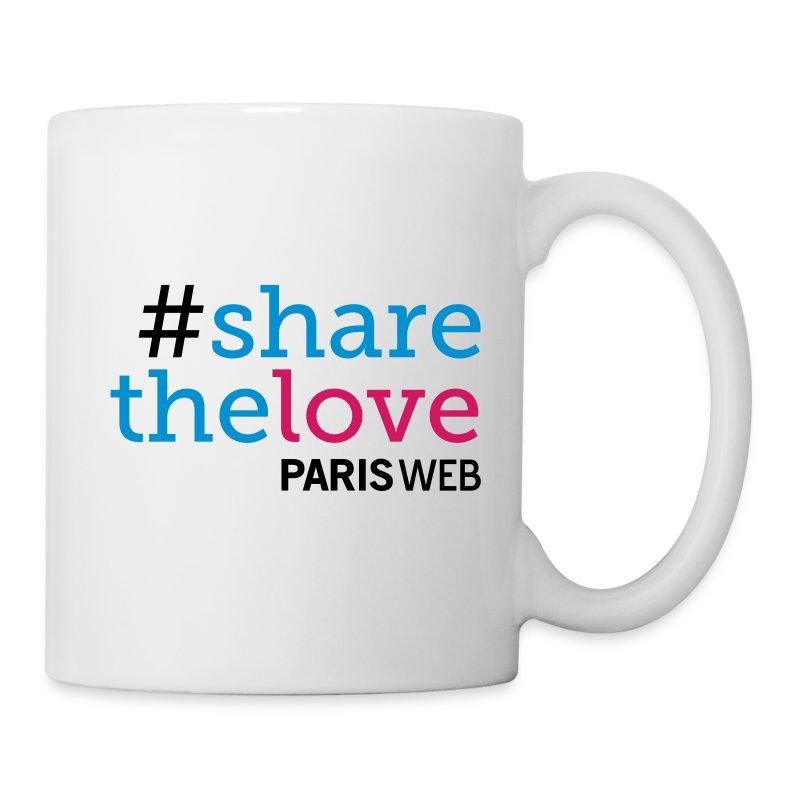 tasse sharethelove mug boutique paris web. Black Bedroom Furniture Sets. Home Design Ideas