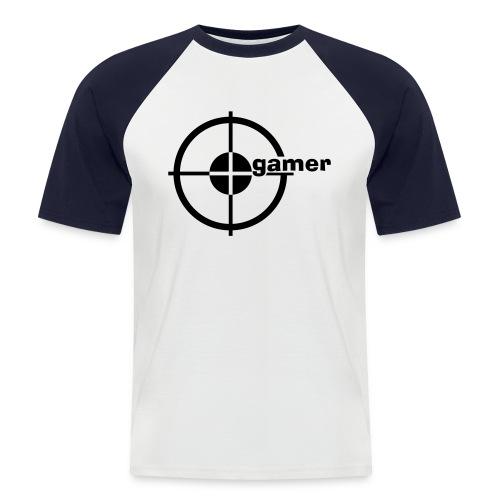 Gamer T-skjorte - Kortermet baseball skjorte for menn