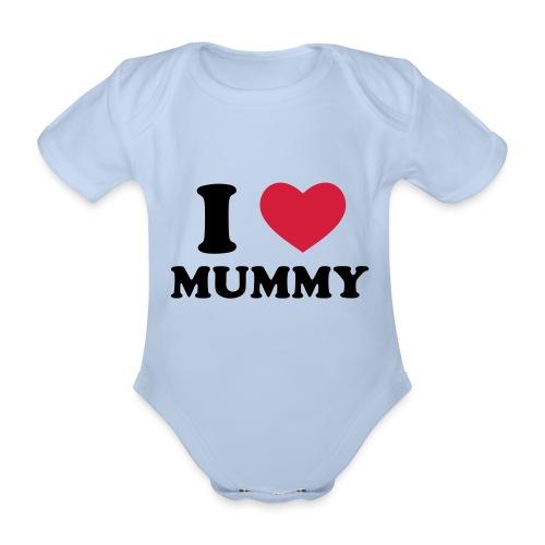 i love mum - Organic Short-sleeved Baby Bodysuit