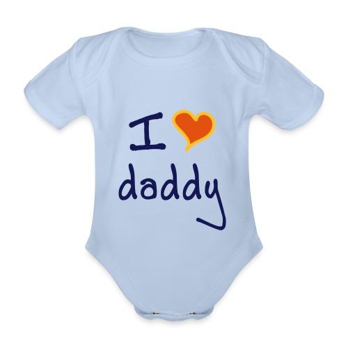i love dad - Organic Short-sleeved Baby Bodysuit