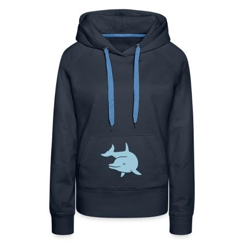 t-shirt delphin delfin dolphin wal orka orca flipper - Frauen Premium Hoodie