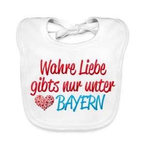 Wahre Liebe gibts nur unter Bayern - Baby Bio-Lätzchen