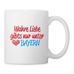 Wahre Liebe gibts nur unter Bayern - Tasse