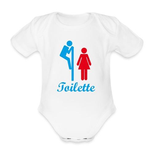 Toilette - Baby Bio-Kurzarm-Body