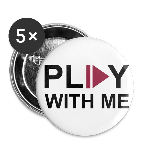 Play with me buttons - Buttons mittel 32 mm (5er Pack)
