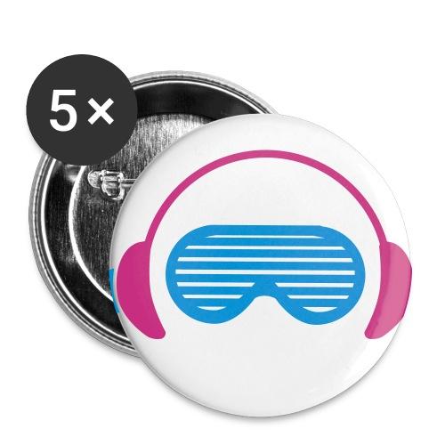 Confezione da 5 spille media (32 mm)