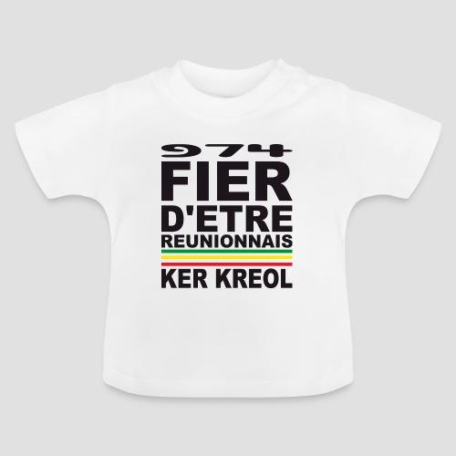 Tee shirt Bébé fier d'être Réunionnais - 974 Ker Kreol - T-shirt Bébé