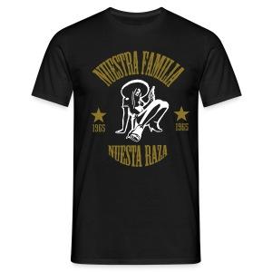 Nuestra Familia  Nuestra Raza - Mannen T-shirt