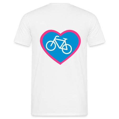 Fahrrad Herz - Männer T-Shirt
