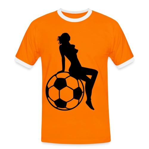 voetbal girl - Mannen contrastshirt