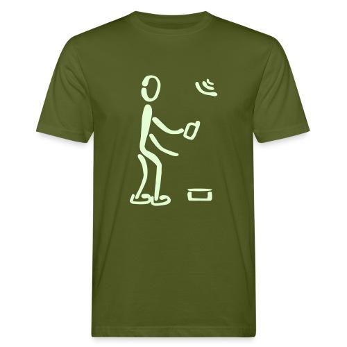Geocaching-T-Shirt (M) - Männer Bio-T-Shirt