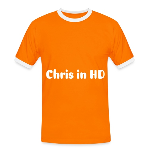 Chris in HD Men's Centre T - Men's Ringer Shirt