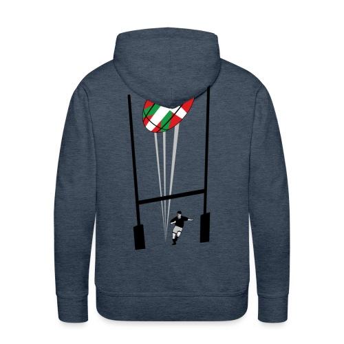 sweatshirt rugby basque - Sweat-shirt à capuche Premium pour hommes