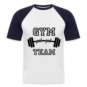 Fitness shirt - Mannen baseballshirt korte mouw