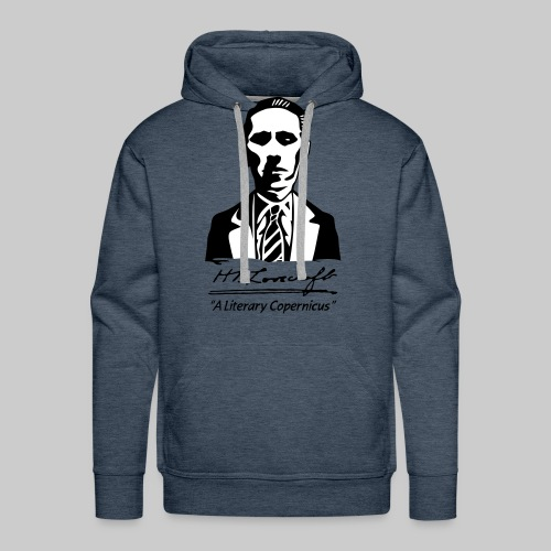 MPK2: H.P. Lovecraft Portrait - A Literary Copernicus (bicoloured) - Men's Premium Hoodie
