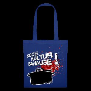 stofftasche kochkulturbanause mit motiv im grunge style - Stoffbeutel