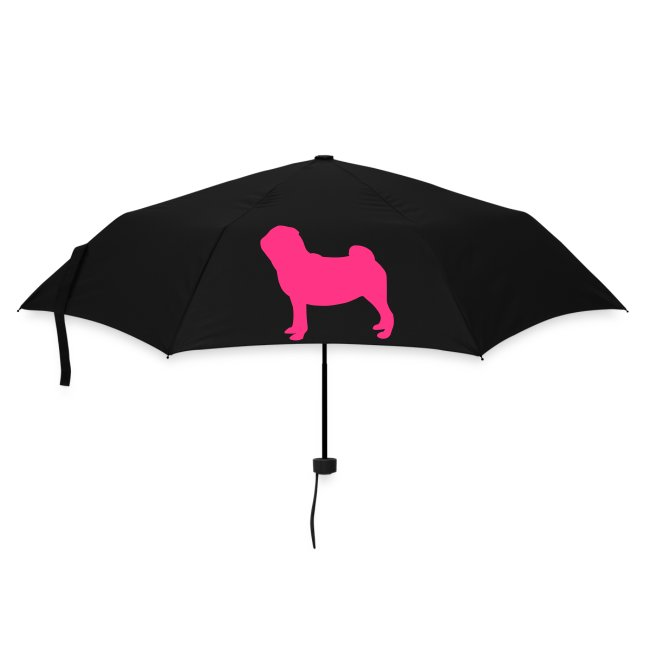 Pug Luv x Pug umbrella  Standing in Blue and Pink