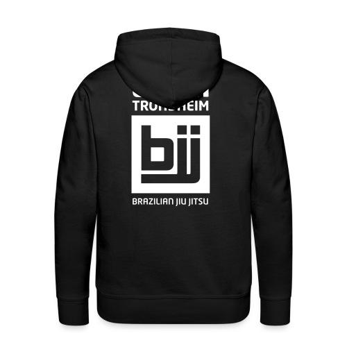 Team Trondheim BJJ - Hettegenser (svart) uten navn - Premium hettegenser for menn