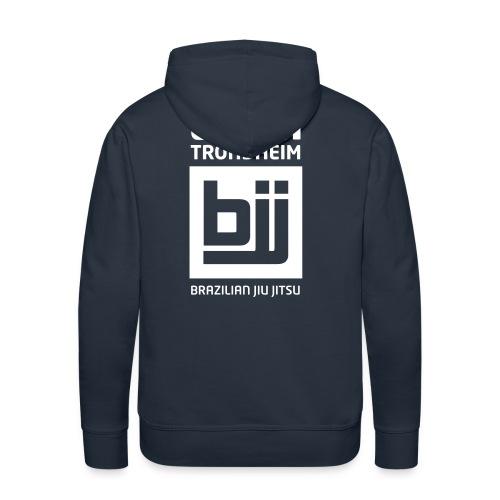 Team Trondheim BJJ - Hettegenser (marine blå) - Premium hettegenser for menn