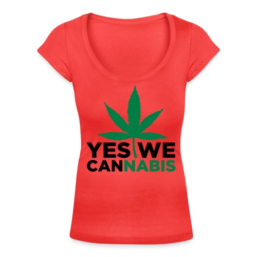 I love cannabis - Women's Scoop Neck T-Shirt