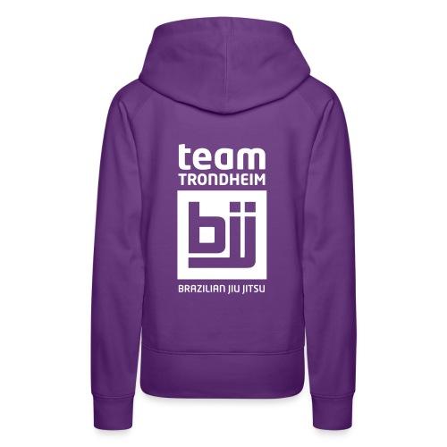 Team Trondheim BJJ - Hettegenser (lilla) - Premium hettegenser for kvinner