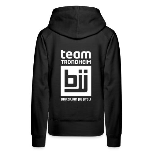 Team Trondheim BJJ - Hettegenser (svart) - Premium hettegenser for kvinner
