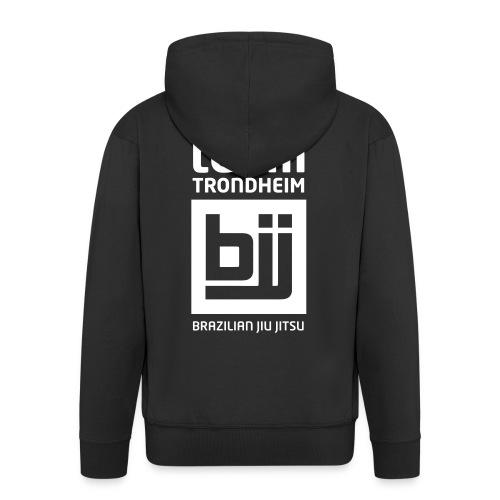 Team Trondheim BJJ - Hettejakke (svart) med glidelås - Premium Hettejakke for menn