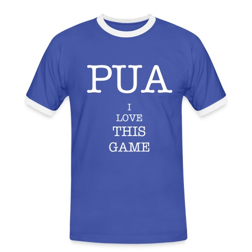 PUA i love this game - Camiseta contraste hombre